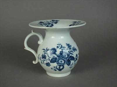 Lot 240 - Worcester spittoon or saffer pot, circa 1778-85