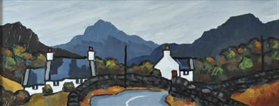 Lot 11-David Barnes (Contemporary, Welsh School), Welsh Village