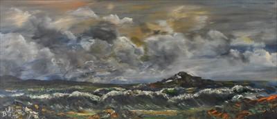 Lot 15-B.W. Winters (British, 20th Century), Seascape