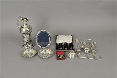 Lot 36-A small collection of silver