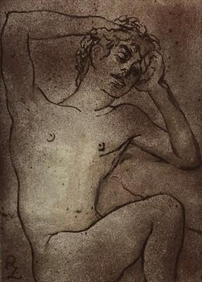 Lot 16-Zsuzsi Roboz (Hungarian 20th-21st Century, 1929-2012), Reclining Nude