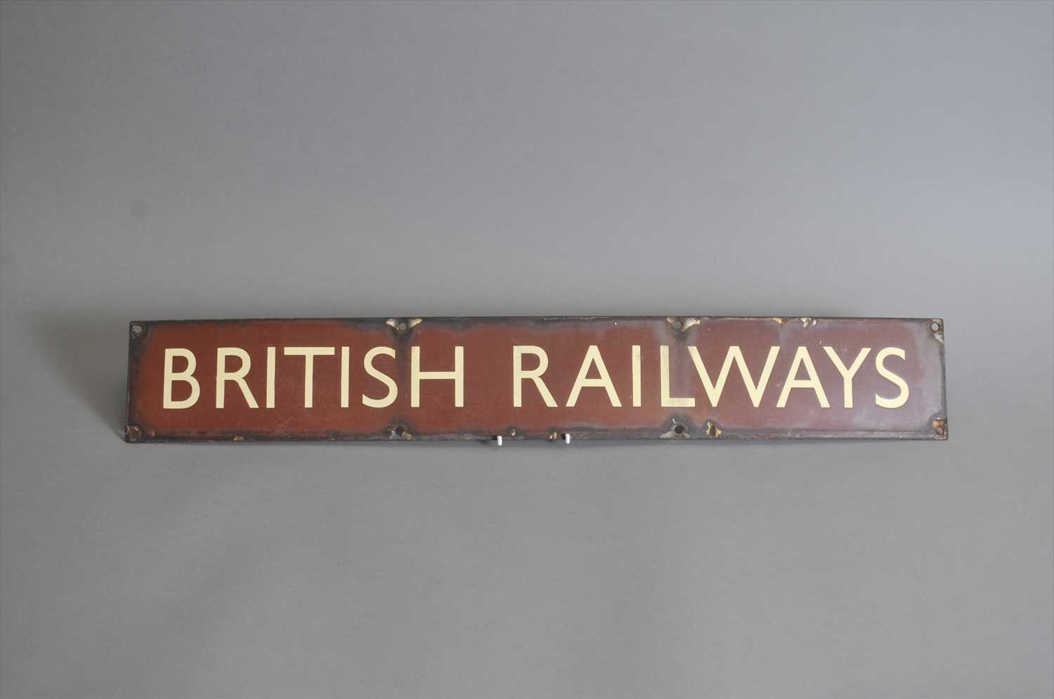 Lot 622 - An original British Railways enamel sign