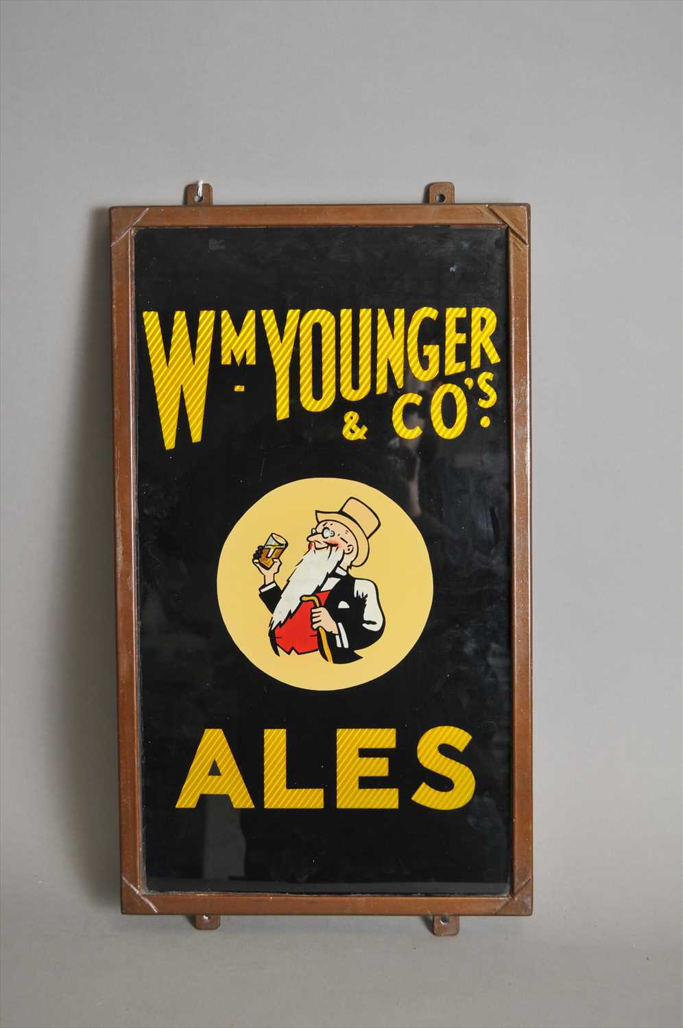 Lot 639 - An original encased slate-backed pub advertising sign for William Younger & Co's Ales