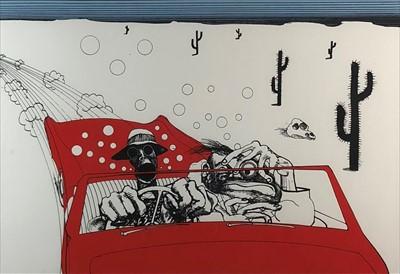 Lot 7-Ralph Steadman (Welsh 20th-21st Century), Fear and Loathing in Las Vegas