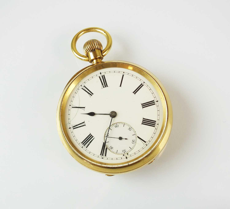 171 - A Gentleman's 18ct gold open face pocket watch