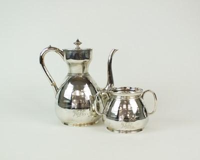 Lot 81 - A Victorian coffee pot and sugar bowl