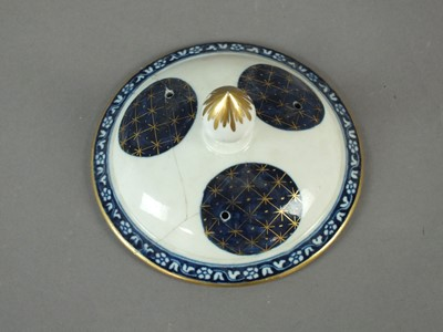 Lot 242 - A Worcester 'Old Japan Fan' teapot and associated cover