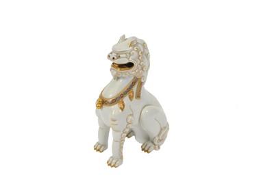 Lot 15 - A 19th century Japanese porcelain temple dog,...