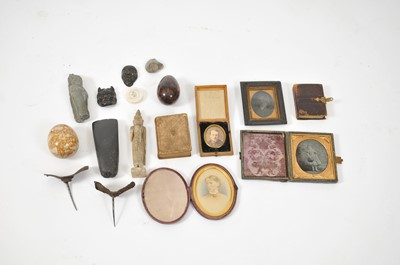 Lot 3 - A collection of curios, including two 19th...