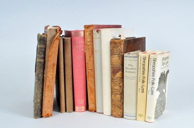 Lot 18 - A collection of Shropshire related books,...