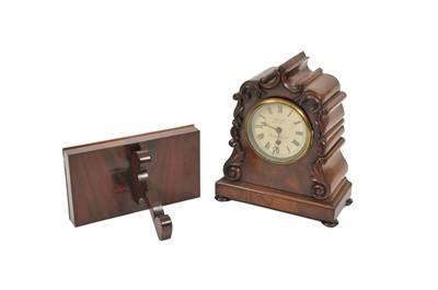 Lot 23 - A Victorian mahogany bracket timepiece, the...