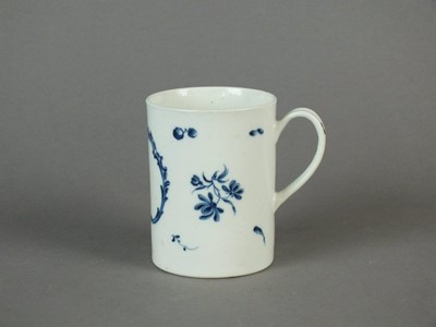 Lot 178 - A rare and early Caughley monogrammed and dated mug