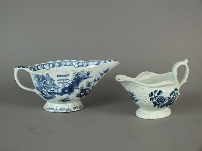 Lot 317 - Two 18th century English sauceboats