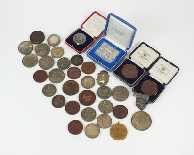 Lot 9 - A collection of Bull dog medallions