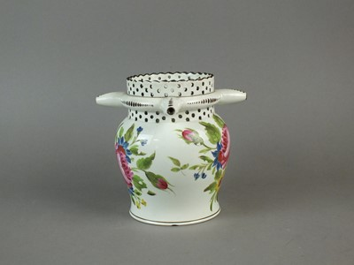 Lot 333 - Early 19th century pearlware puzzle jug