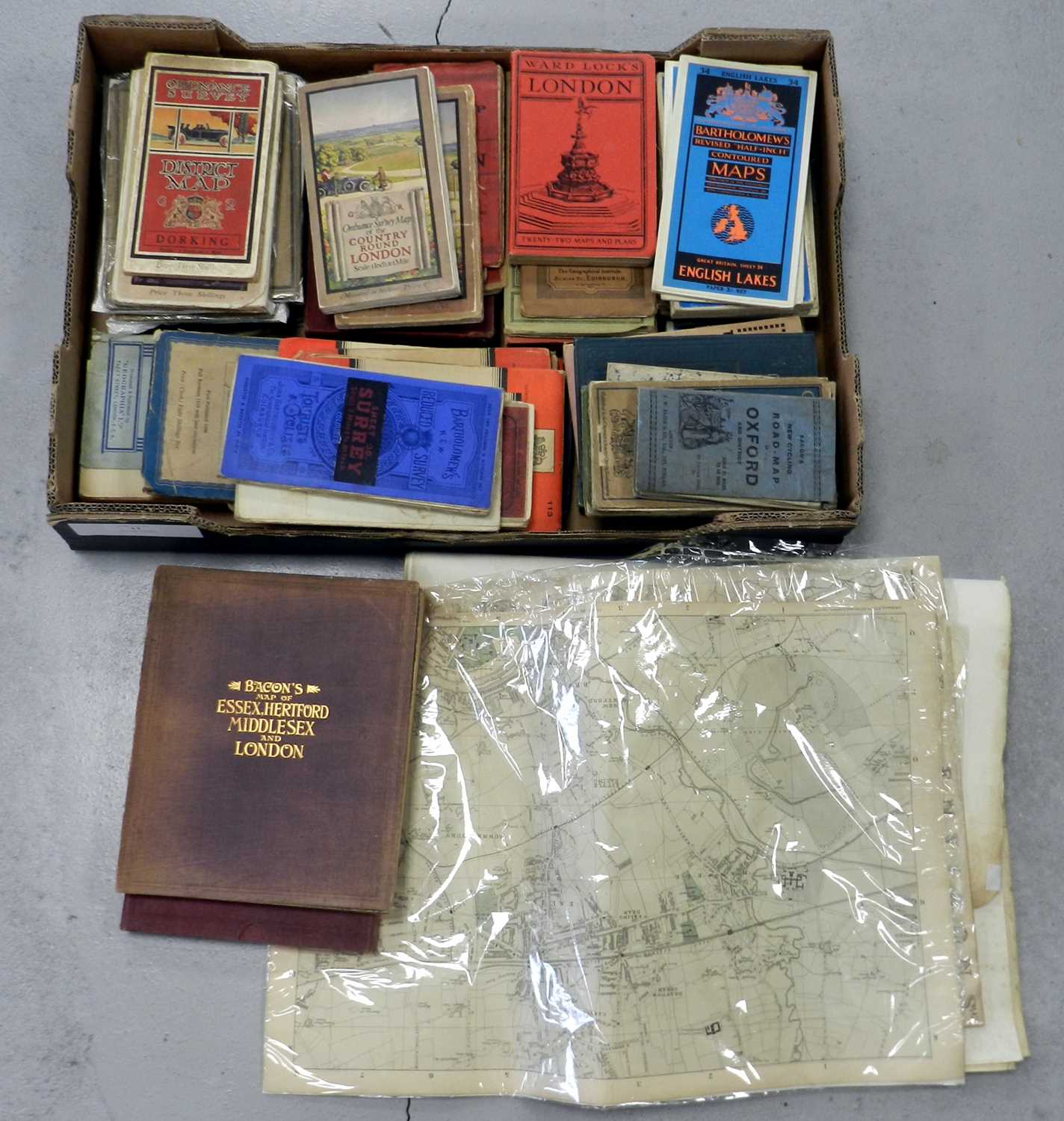 Lot 11 - ORDNANCE SURVEY and other maps (box)