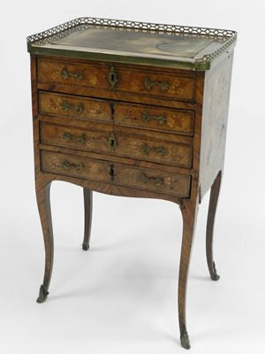 Lot 423 - A 19th century, Louis XV style, walnut...