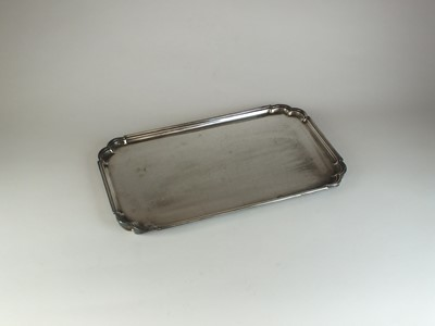 Lot 17 - A silver tray