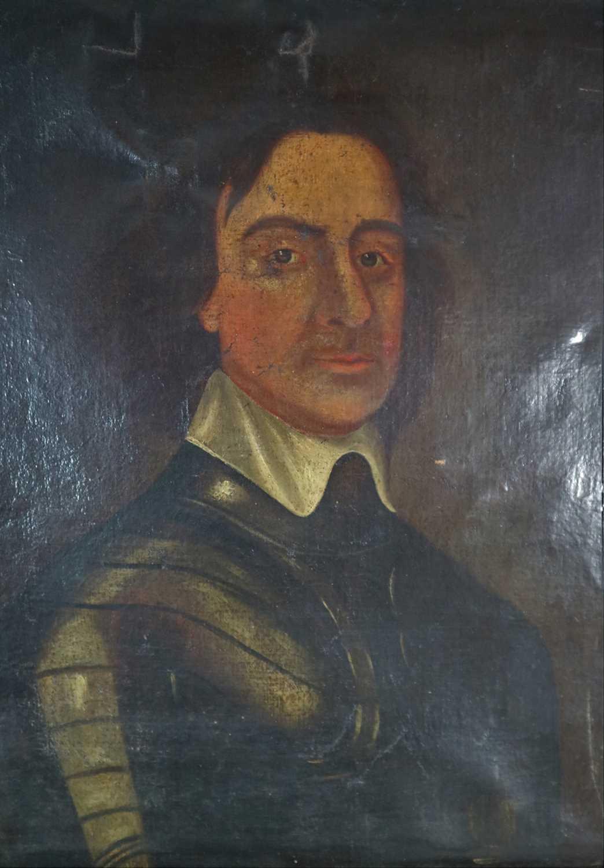 Lot 143 - After Adriaen Hannemann, Portrait of Oliver Cromwell