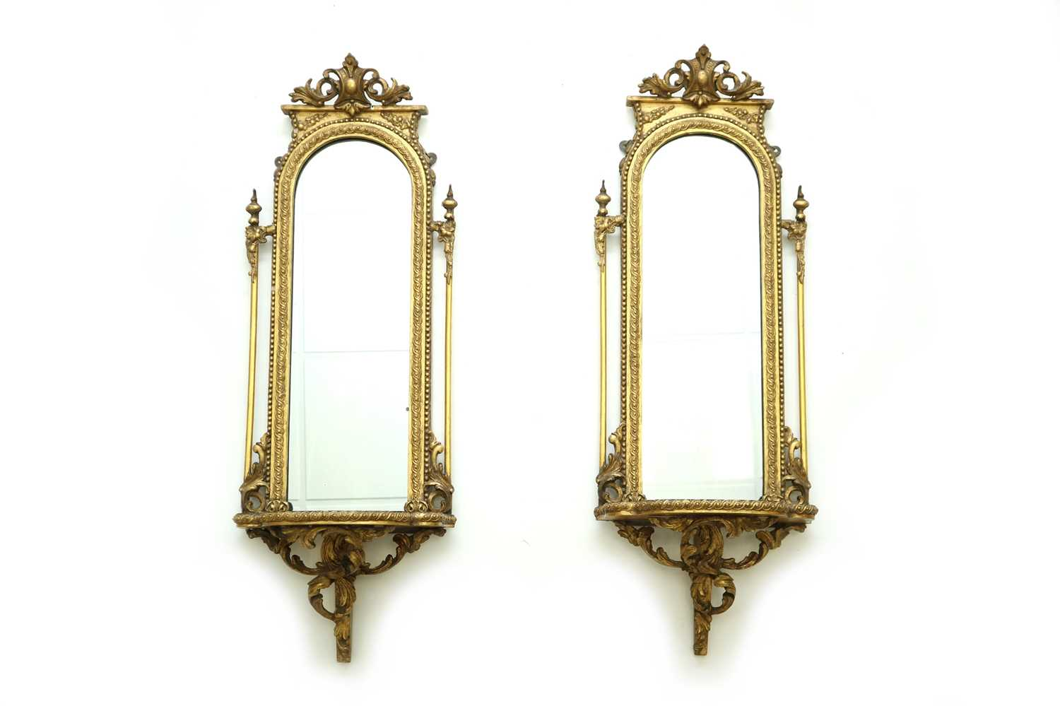 441 - A pair of Victroian giltwood mirrors, second half 19th century