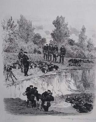 Lot 241 - Auguste Lançon (French 1836-1885), Folio of Etchings from Franco-Prussian War