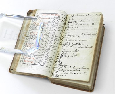 Lot 30 - ANNOTATED DIARY OF THE WEATHER. Rider's...