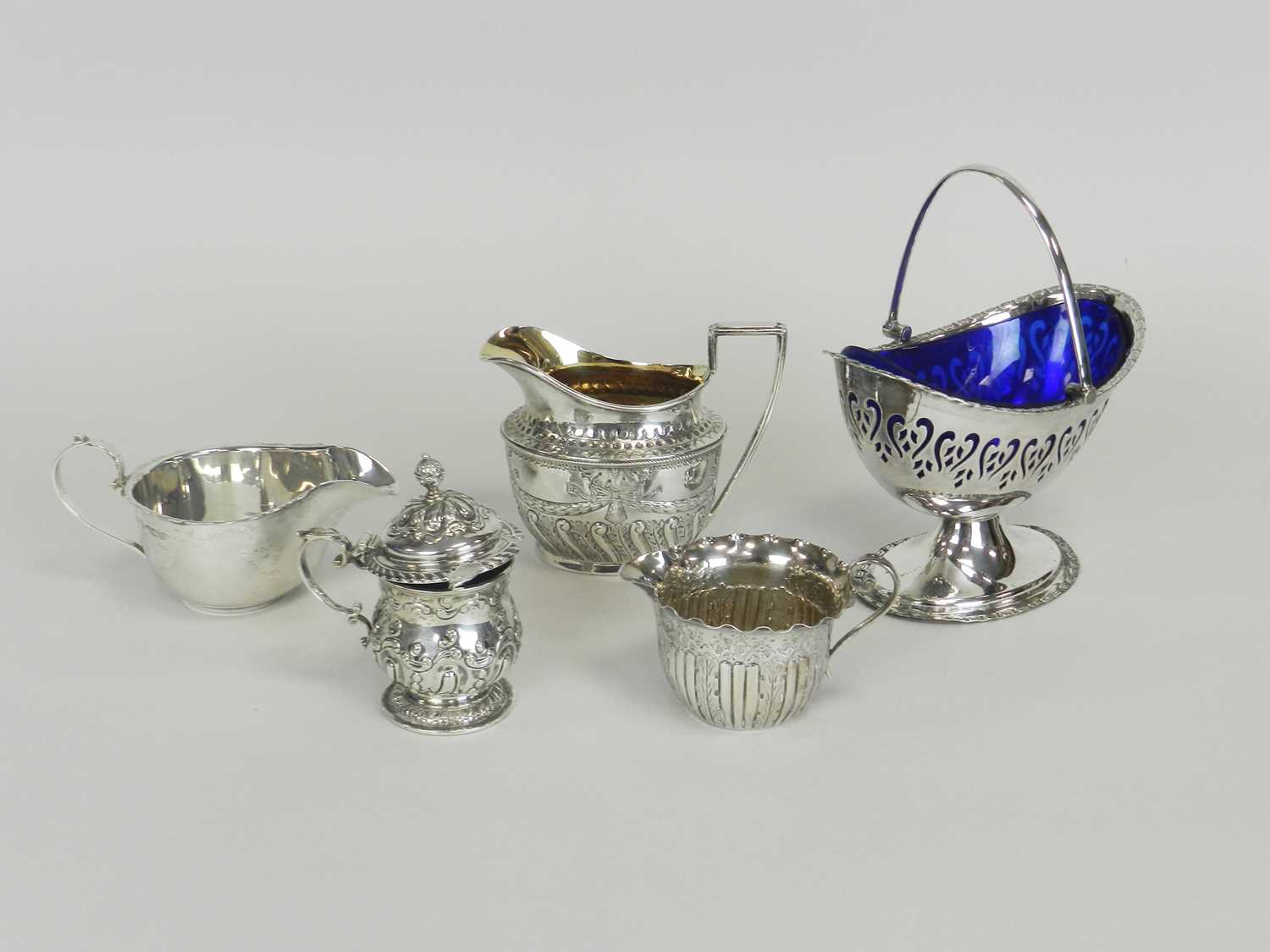 Lot 19 - A Victorian silver cream jug