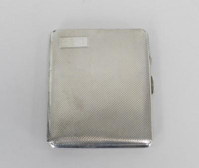 Lot 26 - A silver cigarette case