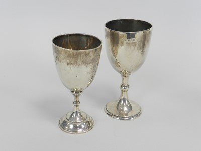 Lot 9 - Two silver cups