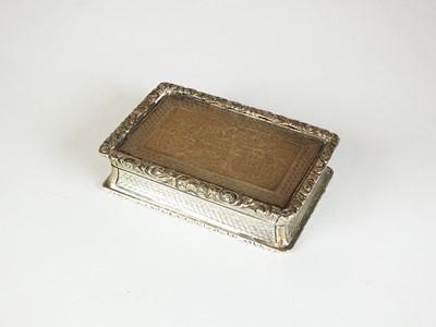 Lot 4 - A Victorian silver presentation snuff box