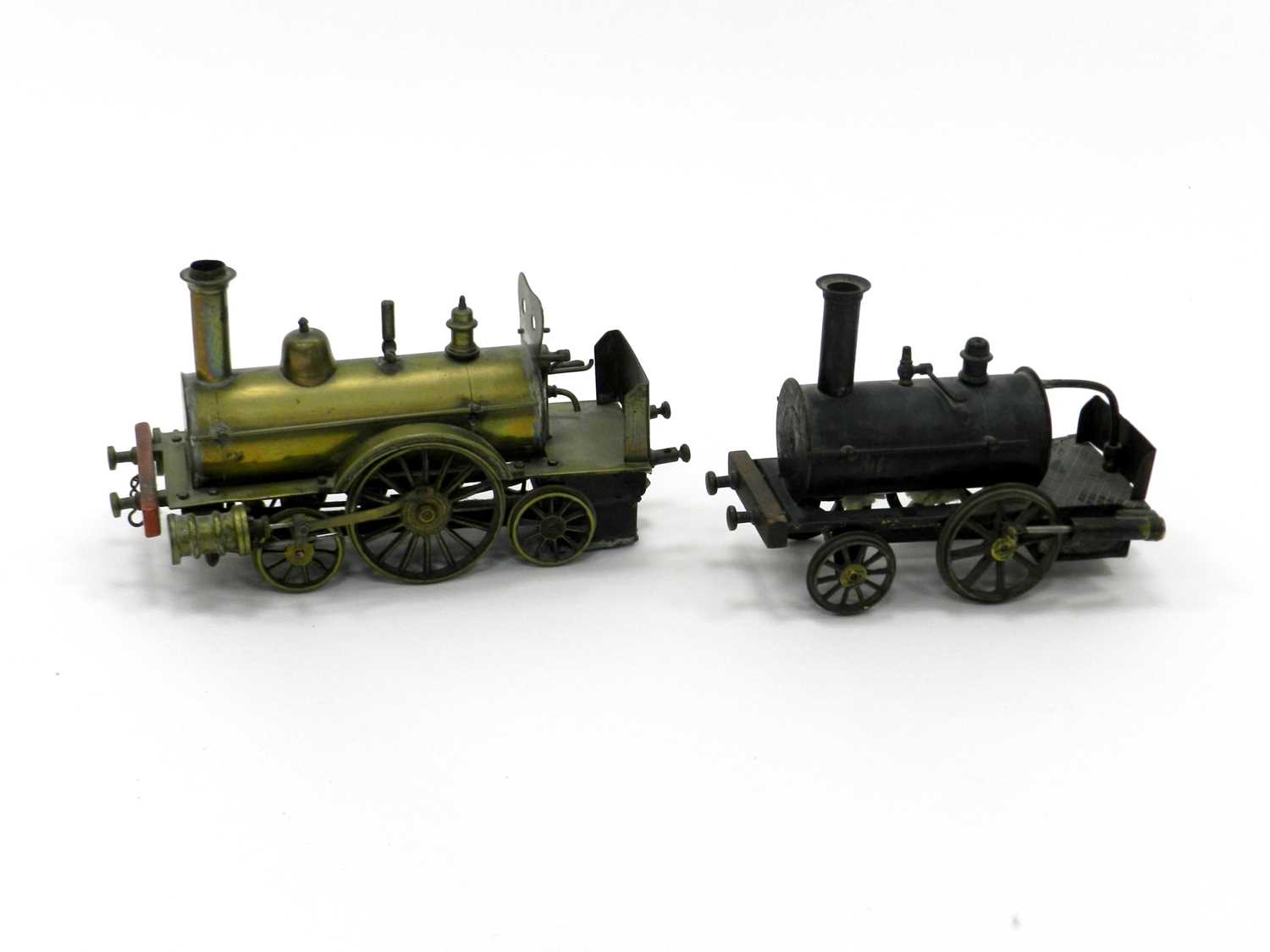 Lot 383 - An early 20th century brass steam model...