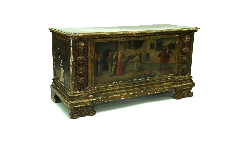 454 - A 17th century, Italian, Baroque style cassone