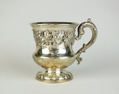 Lot 26 - A George III silver Christening mug
