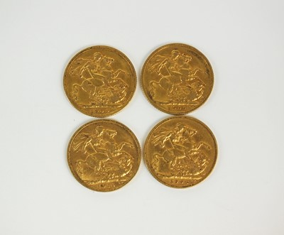 Lot 192 - Four Edward VII sovereigns