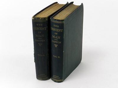Lot 19 - DARWIN, Charles. The Descent of Man, 2 vols,...