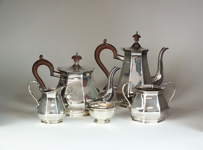 Lot 12 - An Asprey & Co five piece silver tea and coffee service