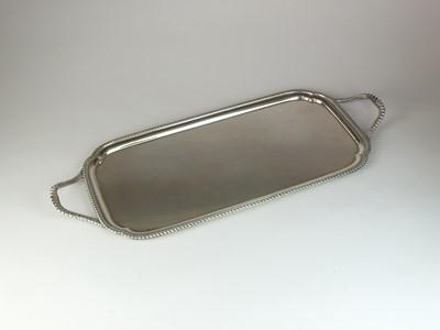 Lot 3 - A silver tea tray