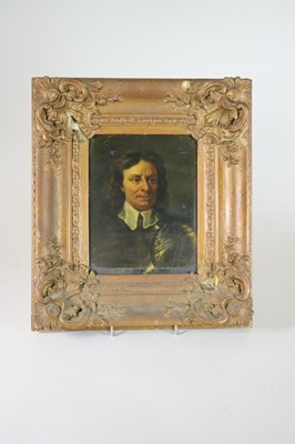 Lot 128 - After Samuel Cooper, Portrait of Oliver Cromwell in Armour