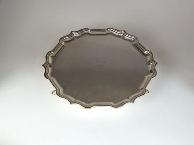 Lot 1 - A silver salver