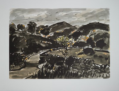 Lot 21 - Two Welsh School Lithographs including Kyffin Williams (1918-2006) Nanmor