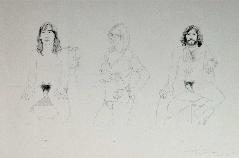 17 - David Hockney (British b.1937) Richard, Jim, Felix for Oz Obscenity Fund