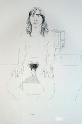 Lot 17 - David Hockney (British b.1937) Richard, Jim, Felix for Oz Obscenity Fund