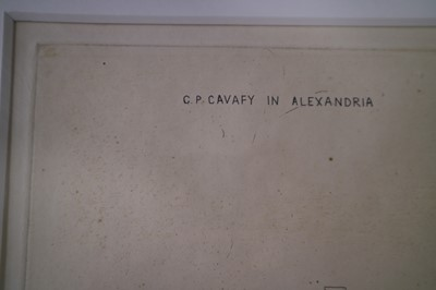 Lot 3 - David Hockney (British b.1937) C.P. Cavafy in Alexandria