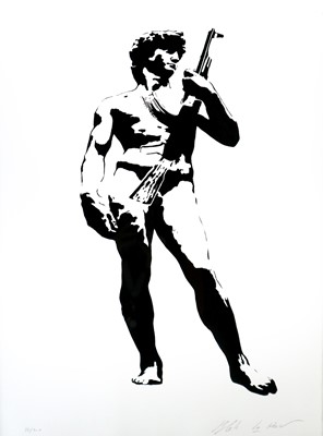 Lot 1 - Blek le Rat (French Contemporary) David with Kalashnikov