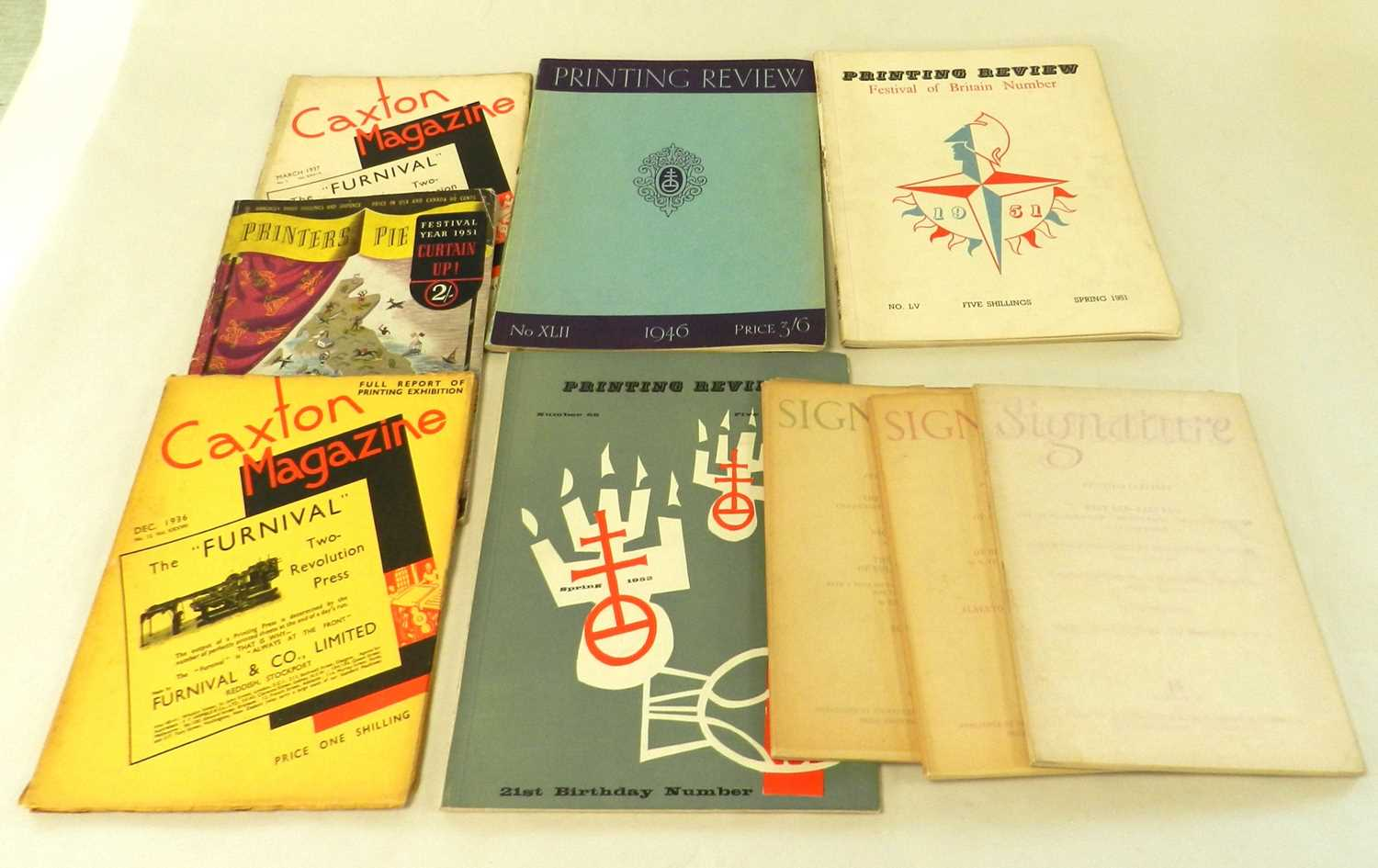 Lot 2 - TYPOGRAPHICAL MAGAZINES. Signature, 14 issues...