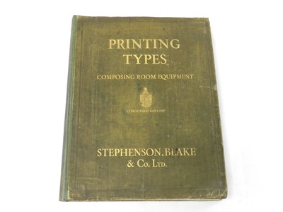 Lot 7 - STEPHENSON BLAKE & CO, Catalogue of Composing...