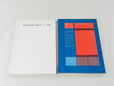 Lot 10 - TYPOGRAPHY PAPERS. 1996 no.1 and 1998 no.3....