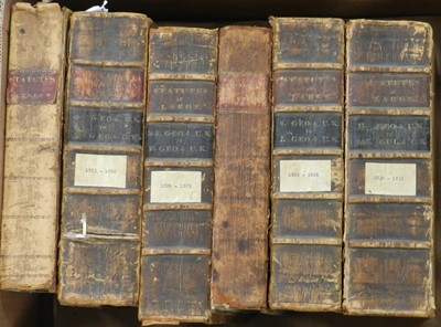 Lot 16 - STATUTES AT LARGE. A broken run from 1757-1832,...