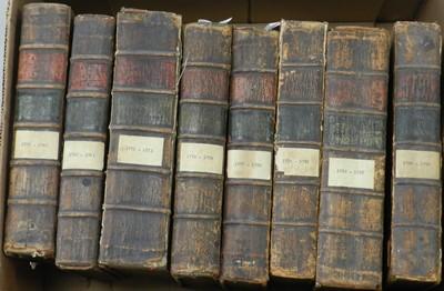 Lot 16 - STATUTES AT LARGE. A broken run from 1757-1832,...