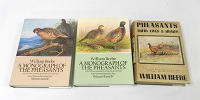 Lot 46 - BEEBE, William, Pheasants, their lives and...